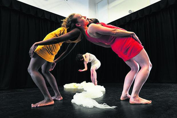 thisisoxfordshire: Dancers rehearse for a show later staged at Arts at the Old Fire Station, which won £5,087 from Oxford Gives last year. Picture: OX50041 Jon Lewis