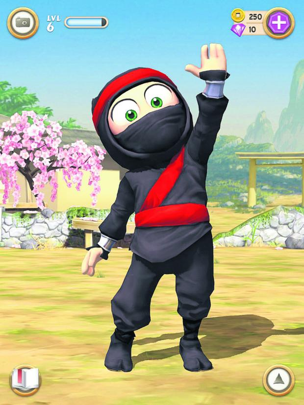 thisisoxfordshire: A screenshot from Clumsy Ninja produced by NaturalMotion
