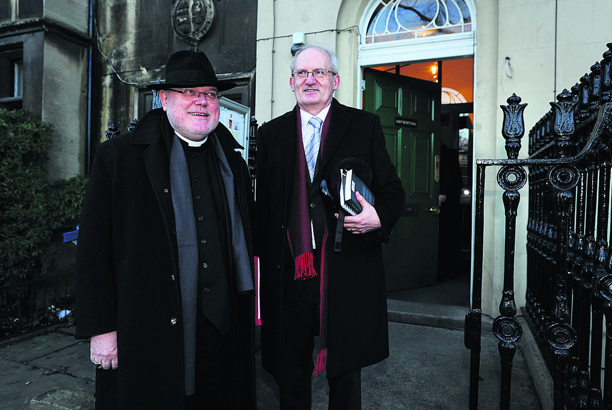 Professor Cardinal Reinhard Marx, pictured left with the Master of St Benet�