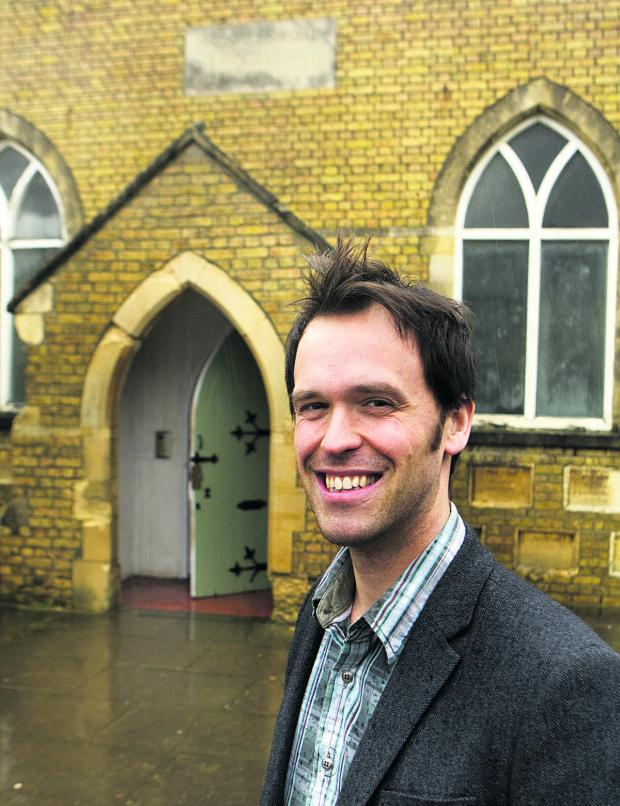 thisisoxfordshire: Dan Steel outside Magdalen Road Church