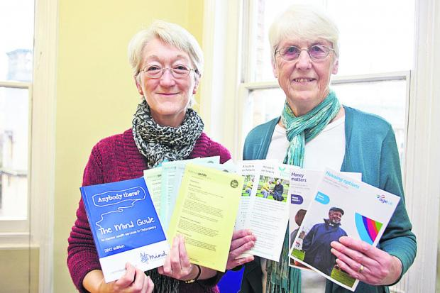 thisisoxfordshire: Citizens' Advice Bureau director Gill Tishler, left, with Donnington Advice Centre trustee Sue Tanner