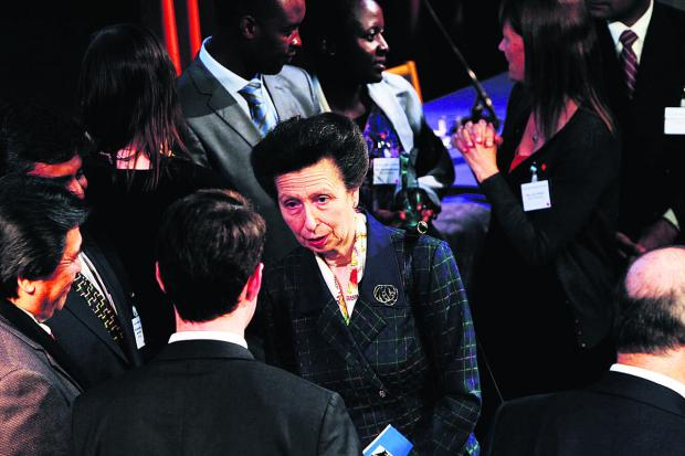 Princess Anne at the prizegiving. Picture: OX65398 Ed Nix
