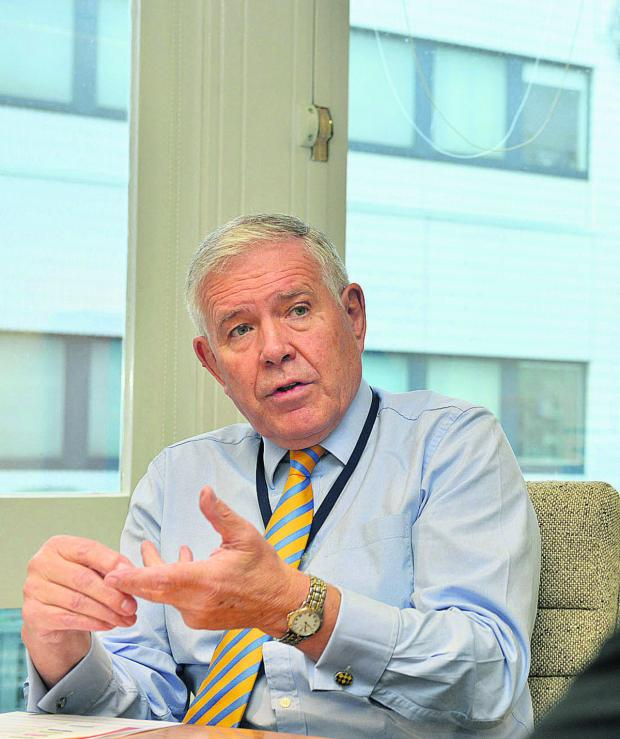thisisoxfordshire: Oxford University Hospitals NHS Trust chief executive Sir Jonathan Michael