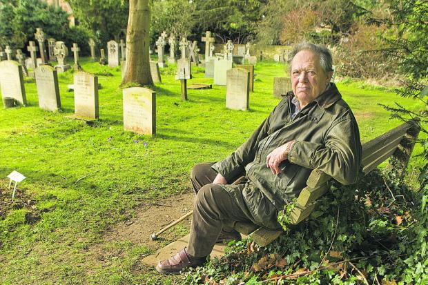 thisisoxfordshire: Peter Jay at the cemetery where his great-uncle is honoured
