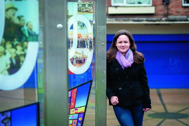 Katie Pryde, from youth project group Thrive Barton