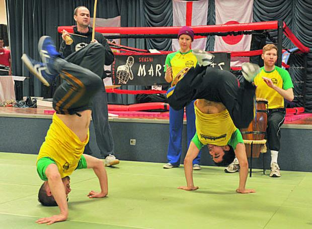 Oxford Capoeira Angola Team perform at a fundraiser for Paul Coleman    Picture: OX65536 Denis Kennedy