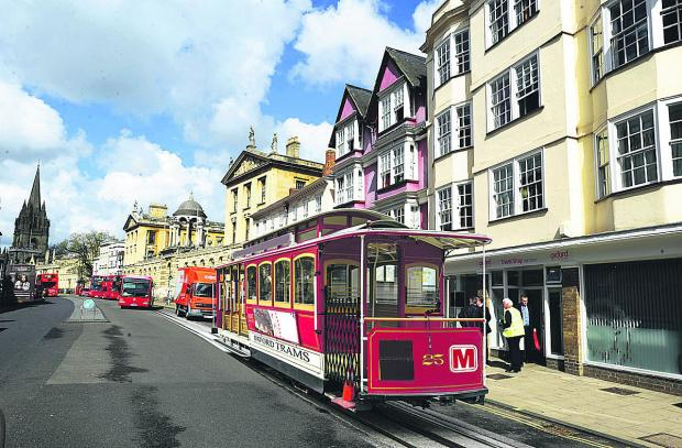 Oxford Mail graphic artist Mel Costello gives his impression of how a 'trolley-car' might look in the High Street