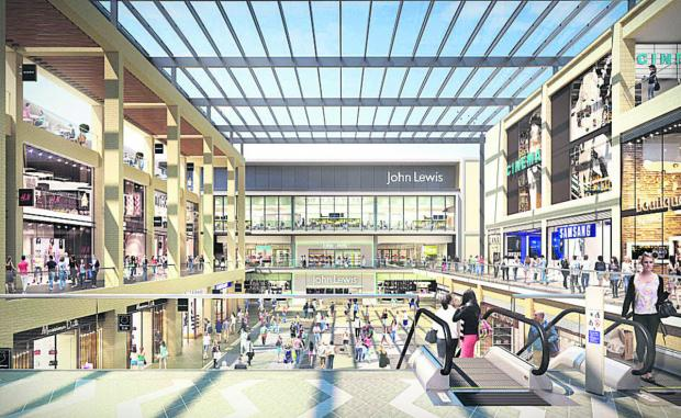 An artist's impression of the planned Westgate development