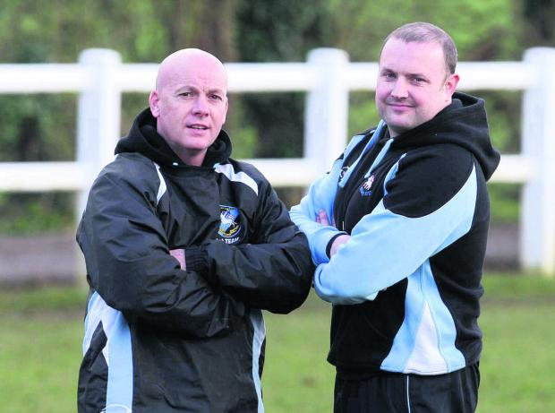 thisisoxfordshire: Witney head coach Pete Wilson (left) and assistant Ritchie Craig
