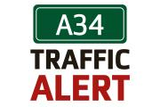 Traffic on A34 at Kidlington queuing due to crash