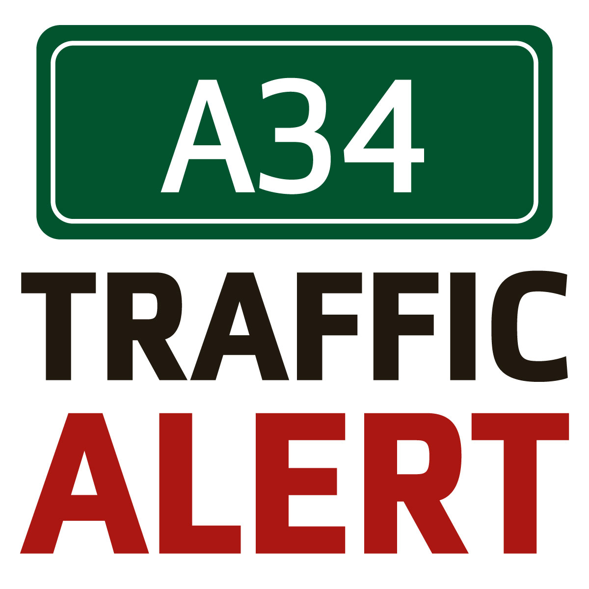 A34 delays after two-vehicle crash