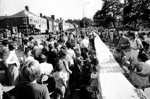 thisisoxfordshire: A children's street party on Florence Park Road in 1981