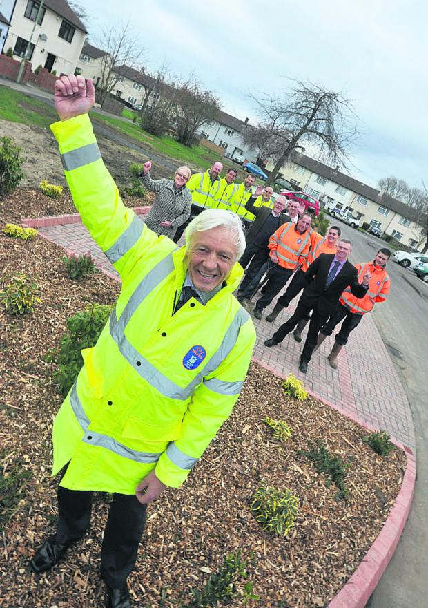 thisisoxfordshire: Oxford City Council's Cleaner, Greener services manager Geoff Corps with councillors and staff at the new parking area