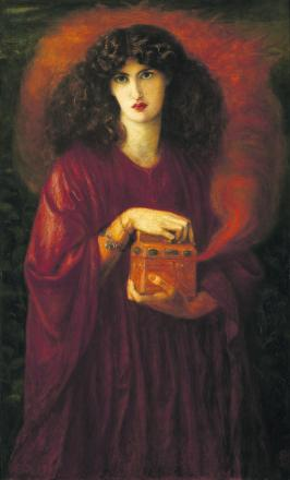 Rossetti's oil painting of Jane Morris as Pandora