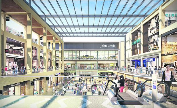 thisisoxfordshire: An artist's impression of the new John Lewis store