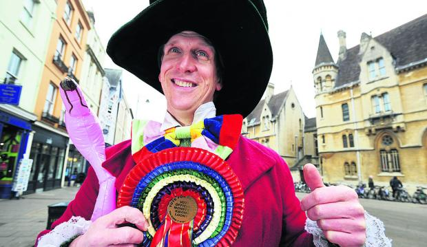 thisisoxfordshire: Alasdair de Voil in character as the Mad Hatter tour guide