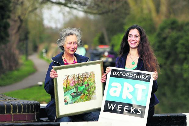 thisisoxfordshire: Artist Katherine Shock with festival director Esther Lafferty