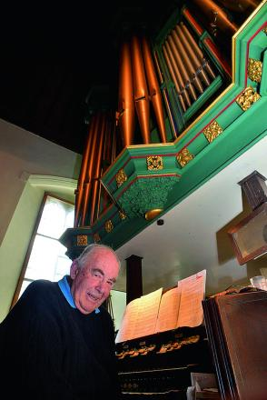 Brian Tidy, at St James The Apostle church in Cowley, has been playing the organ for 60 years