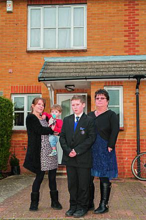 Lisa-marie Richards, left, with her family, in Littlemore