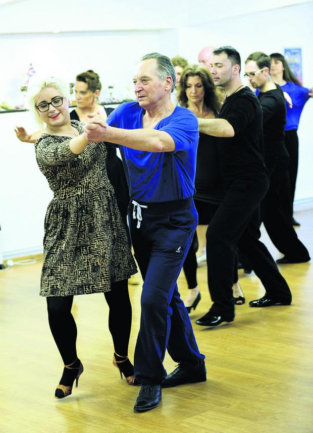 thisisoxfordshire: David Bellan, dance critic on our sister paper The Oxford Times, is shown the way by Nikita Vance