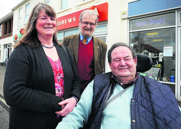 Cousins Caroline Kellner, Arthur and Bob Howse, who are the trustees of the Stephen Howse estate
