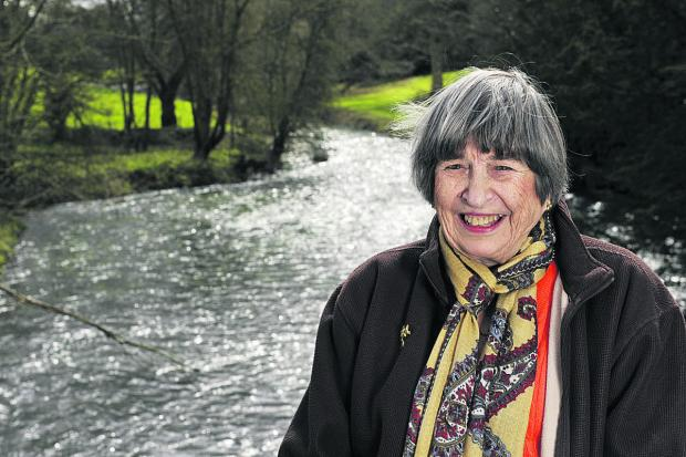 thisisoxfordshire: Author Jean Stone by the River Cherwell at Lower Heyford Bridge. Picture: OX66104 Mark Hemsworth