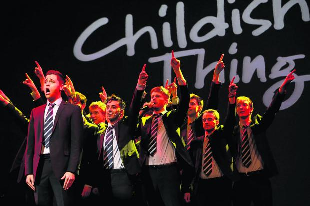 thisisoxfordshire: STAR LINE-UP: The a capella group Out of the Blue performing at Childish Things. Below comedian Jimmy Carr