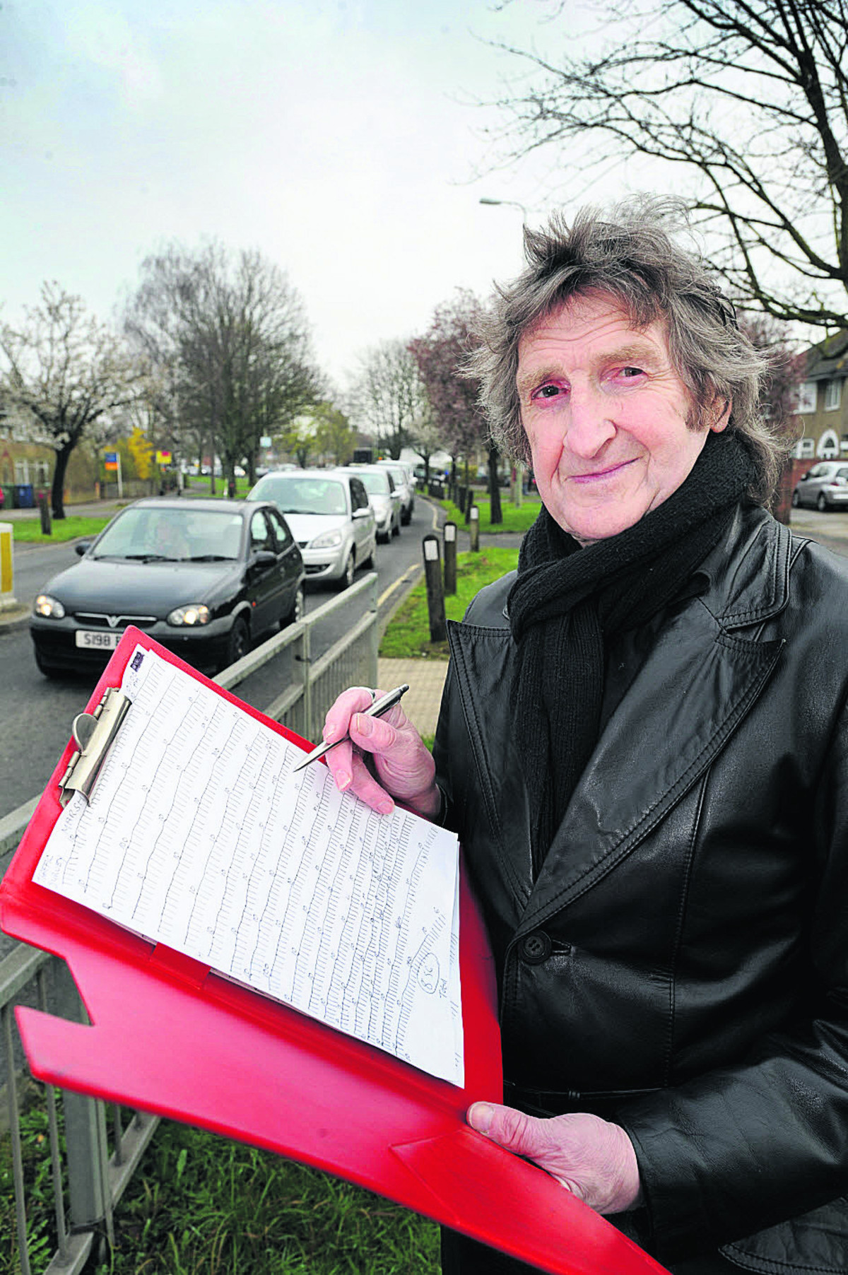 Cllr Mick Haines is pictured at the junction of Cherwell Drive and Marsh Lane.  Picture: OX66188 Jon Lewis