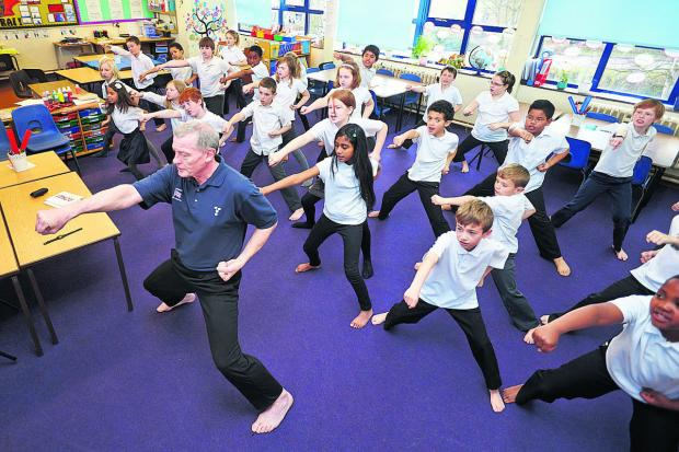 thisisoxfordshire: INSCRUTABLE: Sensei David Brassington leads the karate class
