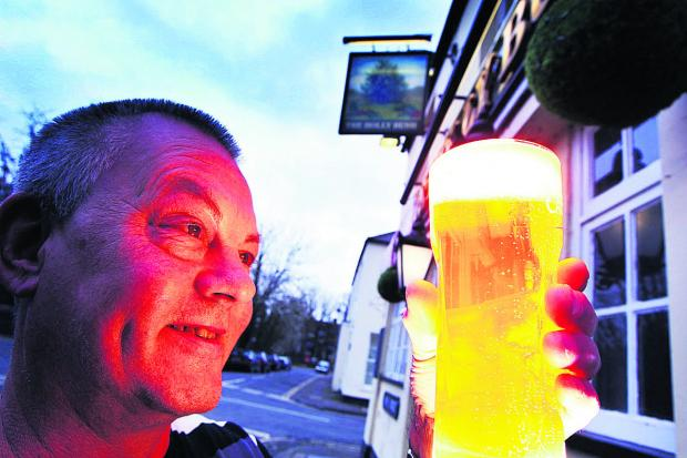 thisisoxfordshire: New landlord Ray Lees at the Holly Bush pub