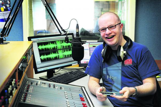 thisisoxfordshire: Radio Cherwell presenter Ian Pinnell, who was named Male Presenter of the Year. Picture: OX66289 Jon Lewis