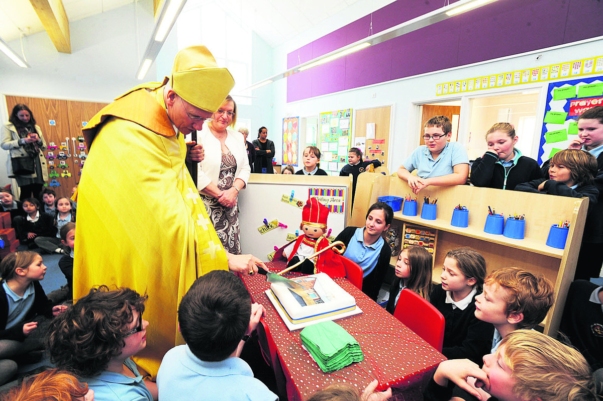 Bishop gives pupils plenty to shout about
