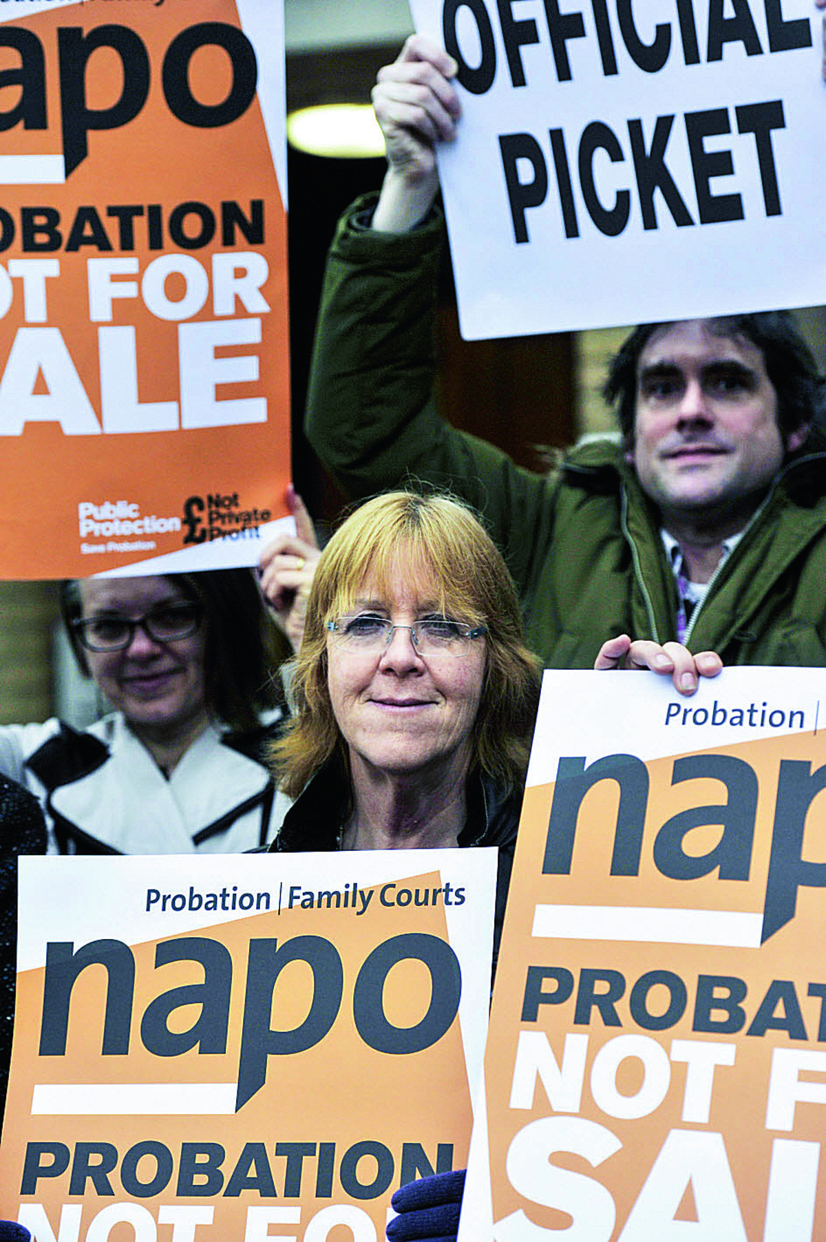 PROTEST: Probation staff picket outside the Oxford Pr
