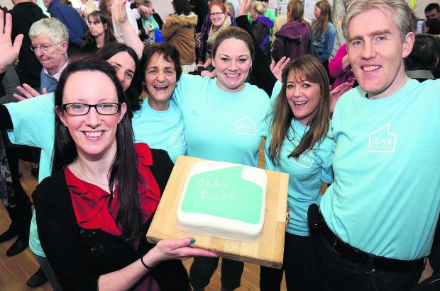 thisisoxfordshire: Anna Pearson, front, and members of the Dean Court Community Association with a celebratory cake