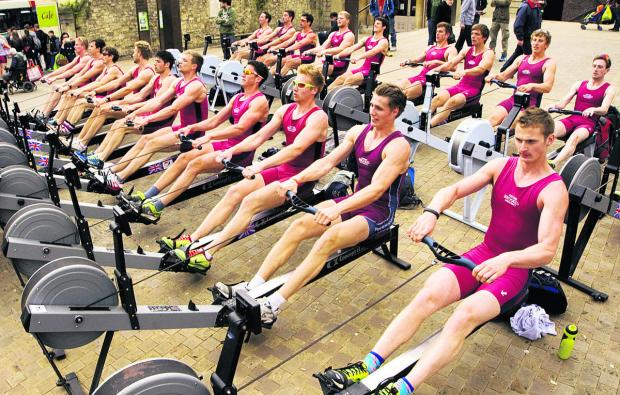 Club rows a million metres without moving