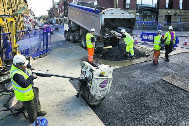 thisisoxfordshire: Resurfacing work under way at Frideswide Square
