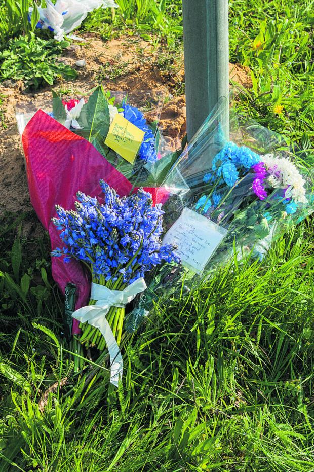 thisisoxfordshire: Floral tributes left at the Charney Road junction