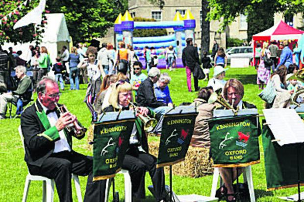 thisisoxfordshire: Kennington Brass Band performed at last year's Headington Festival