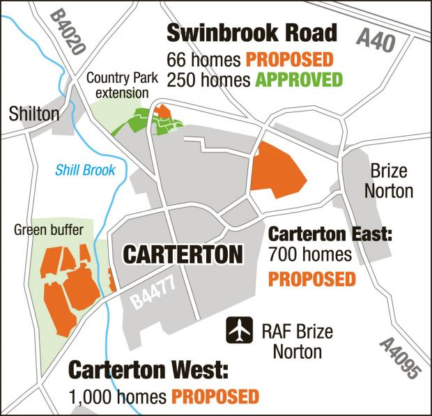 thisisoxfordshire: Housing developments proposed for Carterton