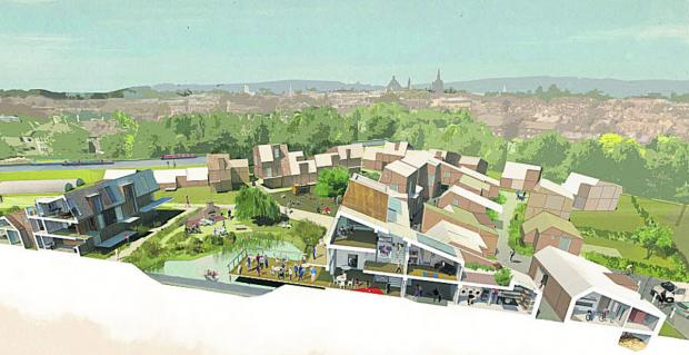 thisisoxfordshire: An artist's impression of the proposed development
