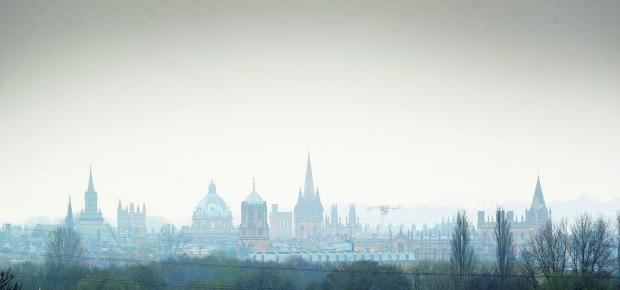 thisisoxfordshire: A smoggy view of the city taken last month