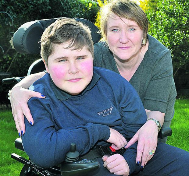 thisisoxfordshire: Muscular dystrophy sufferer 12-year-old Ethan Browne with mum Amanda   Picture: OX66298  Simon Williams