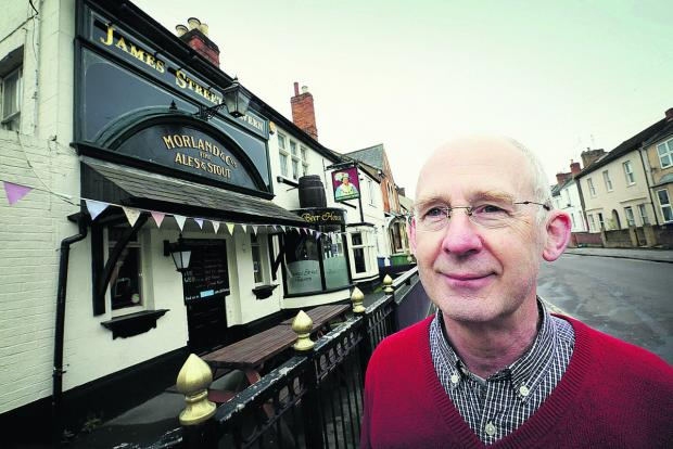 thisisoxfordshire: Cllr Dick Wolff at the James Street Tavern, which he wants to see on the register. Picture: OX66748 Damian Halliwell