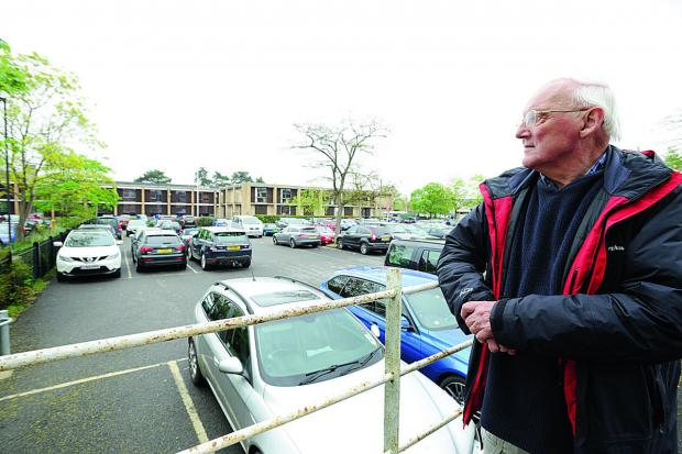 thisisoxfordshire: Martin Roberts in the Ferry Diamond Place car park which is earmarked for development