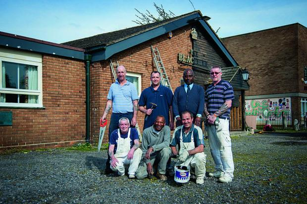 thisisoxfordshire: Back from left, Sam Mitchell, Dean Cox, landlord Glen Williams and Ian Dunlop. Front from left, James Russell, Vernon Rawlins and Dave Simms.