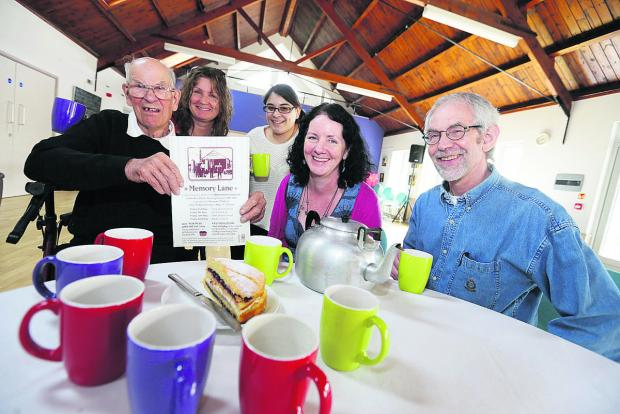 thisisoxfordshire: Cafe organisers, from left, Harry Holtum, Kerry Winfield, Maddie Buchanan, the Rev Jane Sherwood and Andrew Smith