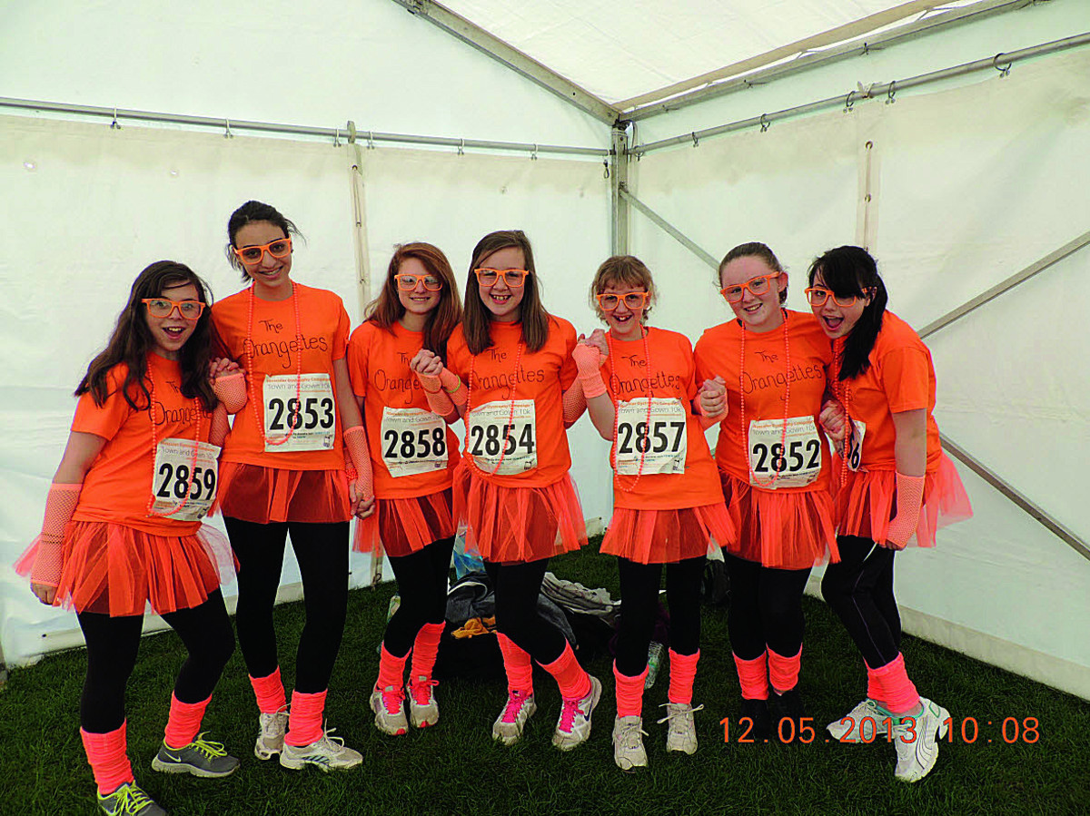 Last year's best dressed junior winners, The Orangettes