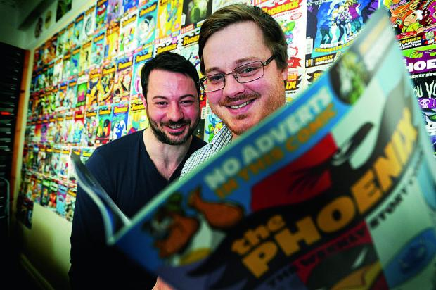 Phoenix comic commercial director Tom Fickling, left, with brother Will Fickling who is the editor