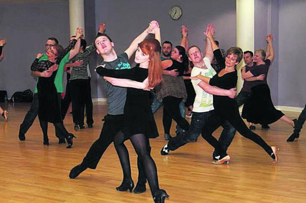 thisisoxfordshire: The 'Strictly Banbury' dancers get in some practice before the weekend event