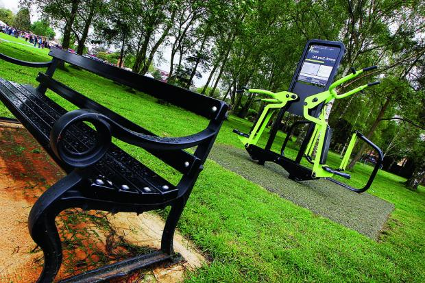 thisisoxfordshire: A fitness trail at Blackbird Leys Park is almost complete